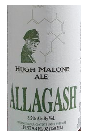 Beer Label: Allagash Hugh Malone Ale