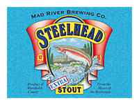 Beer Label: Mad River Brewing Steelhead Extra Stout