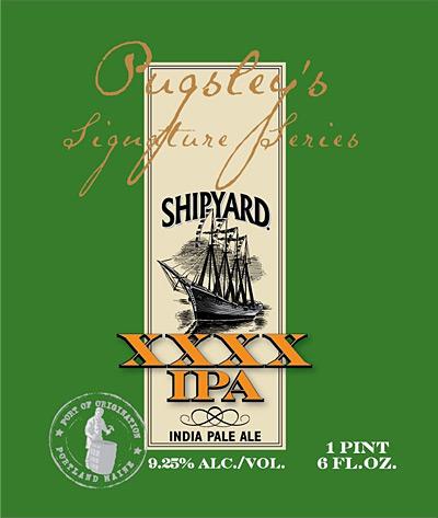 Label: Shipyard Brewing XXXX IPA