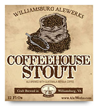 Williamsburg Alewerks Coffeehouse Stout label