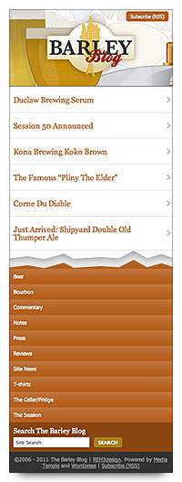 Barley Blog mobile screenshot