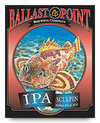 Sculpin IPA label