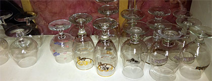 Belgian beer glasses photo