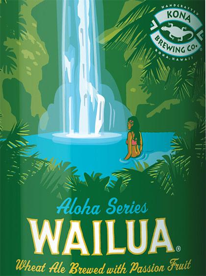 Kona Brewing Wailua Wheat label