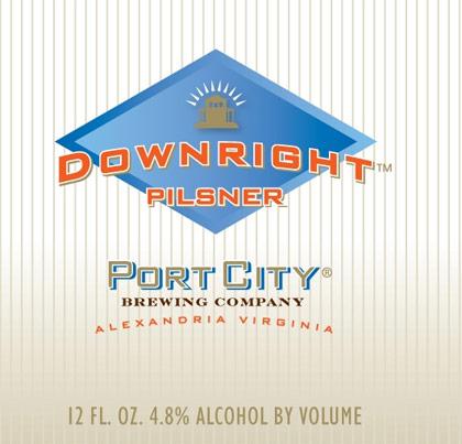 Port City Downright Pilsner label
