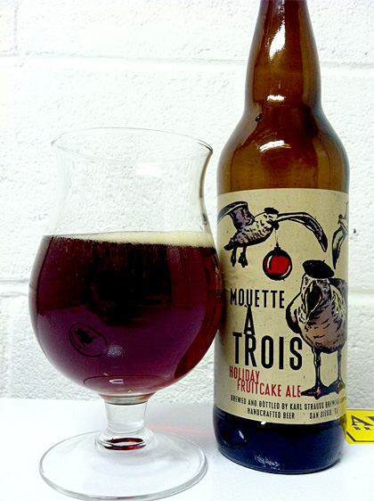 Karl Strauss Mouette a Trois Fruitcake Ale photo