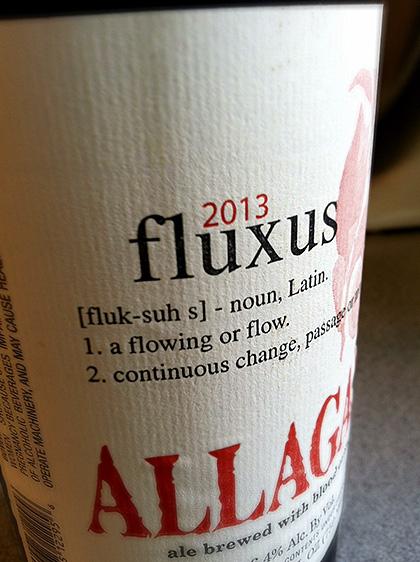 2013 Allagash Fluxus label photo