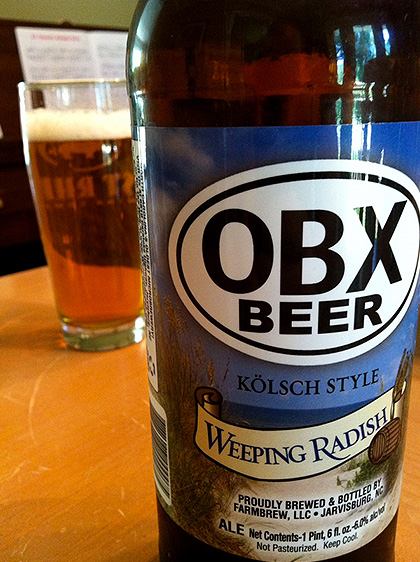 Weeping Radish OBX Beer photo