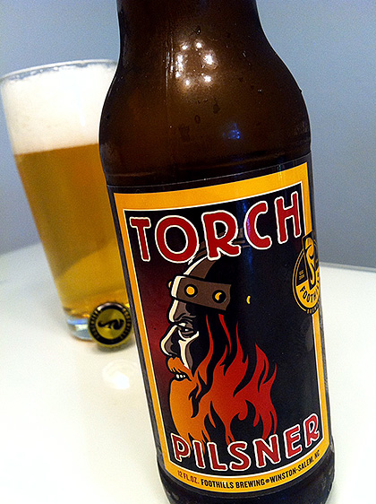 Foothills Brewing Torch Pilsner photo