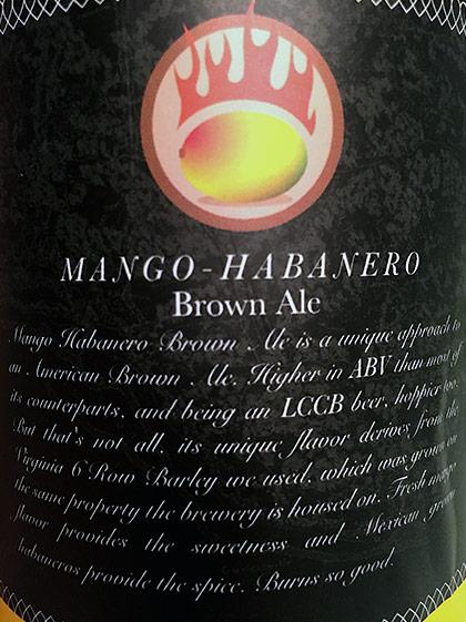 Lickinghole Creek Mango-Habanero Brown Ale photo