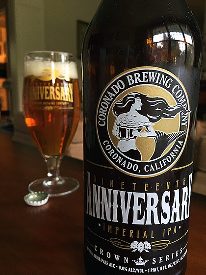 Coronado Brewing 19th Anniversary Imperial IPA