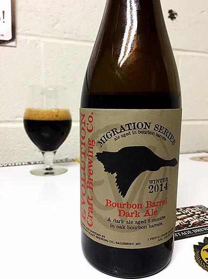 Evolution Brewing 2014 Bourbon Barrel Dark Ale photo