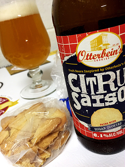 Flying Dog Citrus Saison and Sugar Cookies Pairing