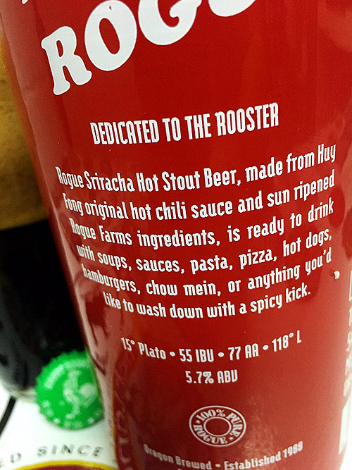 Rogue Sriracha Hot Stout photo