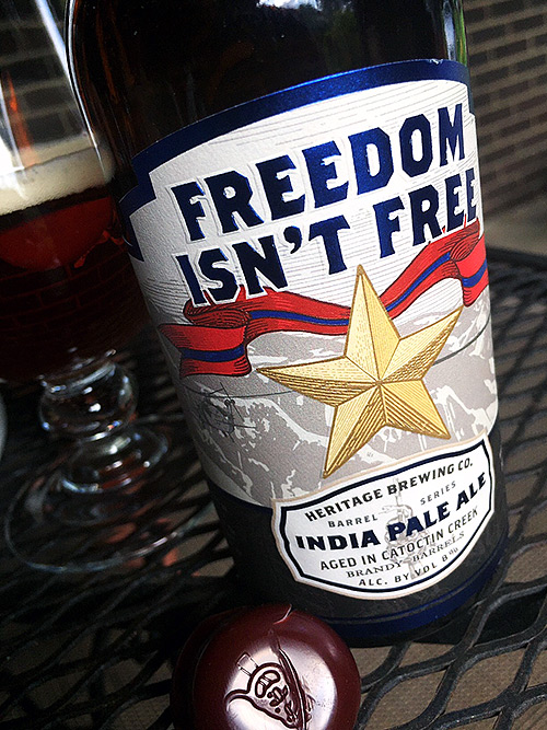 Heritage Brewing Brandy Barrel Aged Freedom Isn't Free