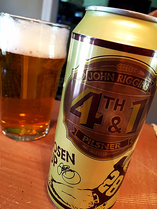 Escutcheon Brewing John Riggins' 4th & 1 Pilsner