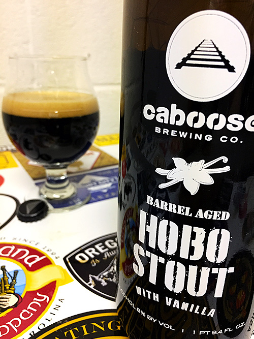 Caboose Brewing Barrel Aged Vanilla Hobo Stout