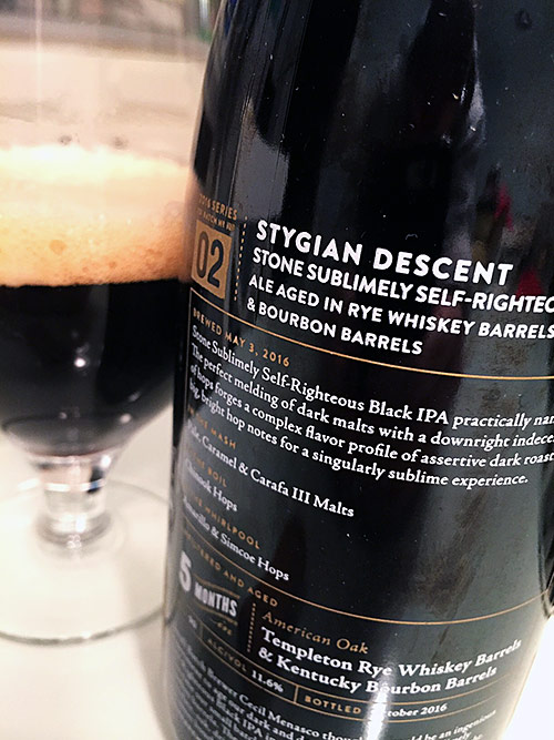 Stone Brewing Stygian Descent photo