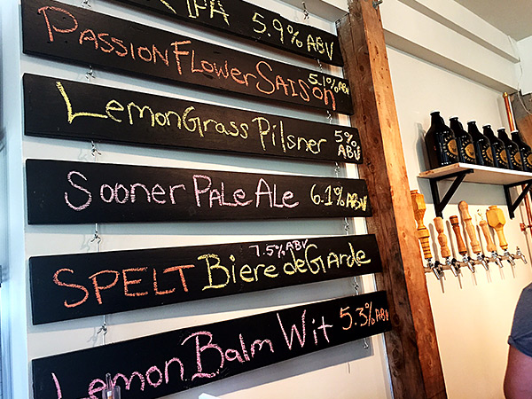 there are several beers on tap to sample