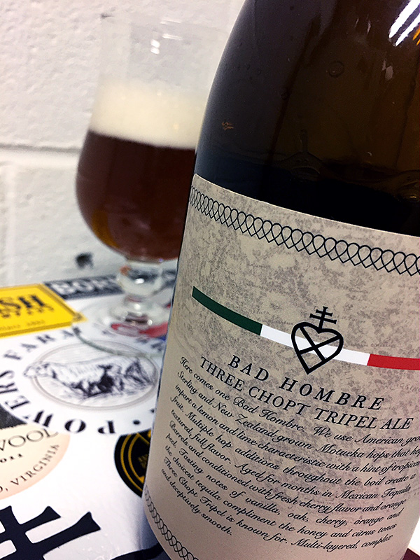 Lickinghole Creek Bad Hombre Three Chopt Tripel photo