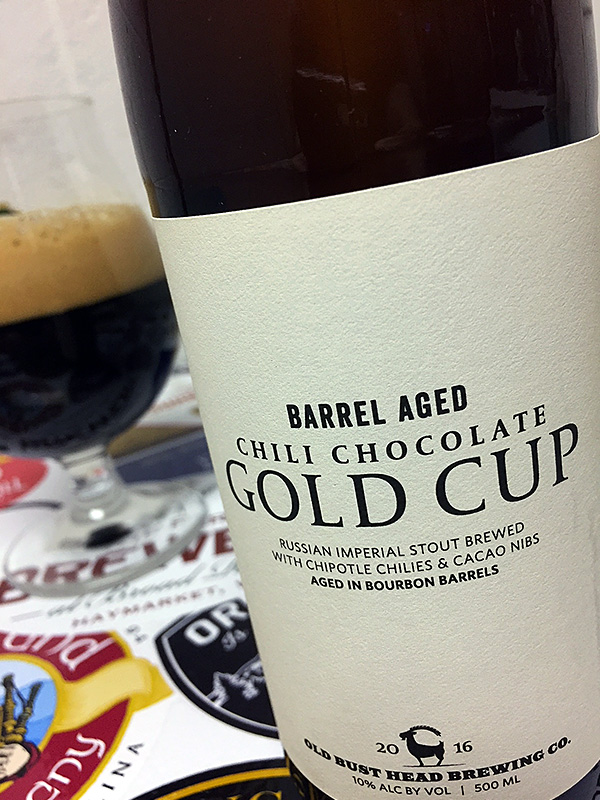 Old Bust Head Barrel-Aged Chili Chocolate Gold Cup photo