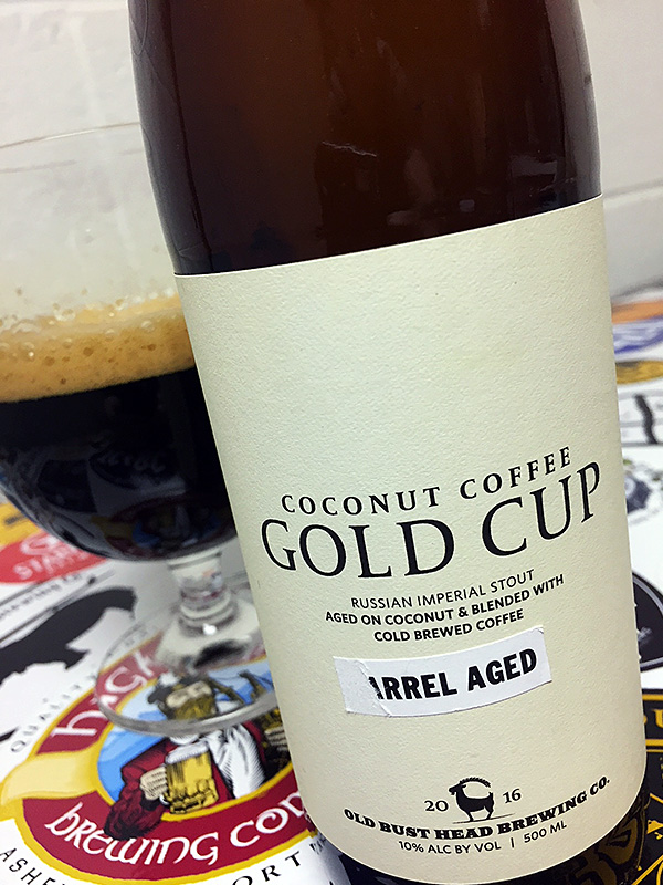 Old Bust Head Barrel Aged Coconut Coffee Gold Cup photo