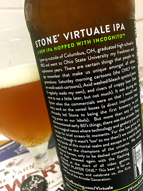 Stone Brewing VirtuALE IPA photo