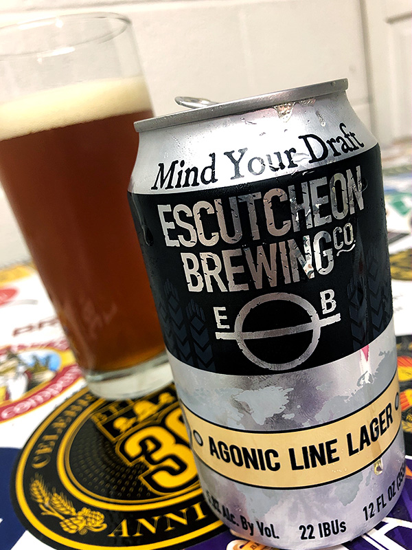 Escutcheon Brewing Agonic Line Lager photo
